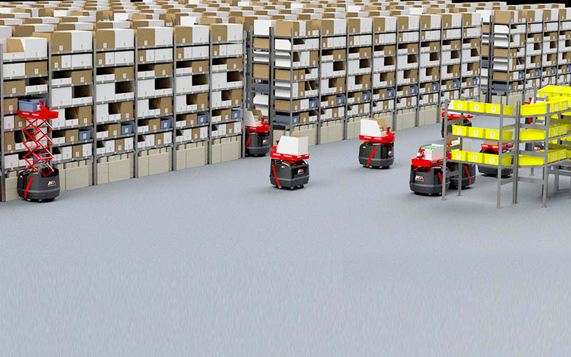 ロボットを活用した倉庫は全世界で5万か所まで増